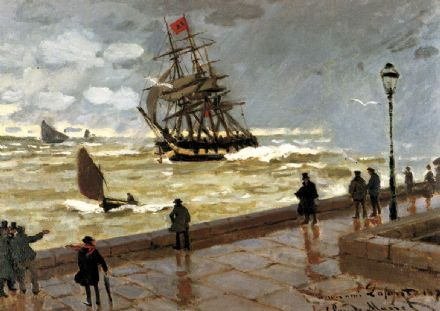 Monet, Claude: Jetty of le Havre in Bad Weather. Fine Art Print/Poster. Sizes: A4/A3/A2/A1 (00759)